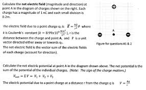 Net Pay Calculator Simple Solved A Calculate The Net Electric Field Magnitude And