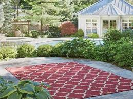 decorate with outdoor rugs