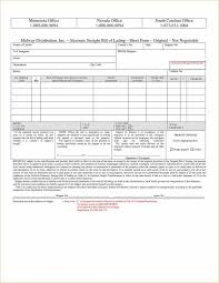 Blank Bill Of Lading Forms Magnificent Regulated Bill Of Lading Forms Free Shipping Template Pdf Basetels