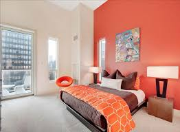 Contemporary Orange Bedroom Colors This Idea Orangeroom E Throughout Perfect Design