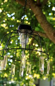 fairy garden solar light chandelier