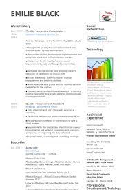 quality assurance coordinator resume samples qa resume template