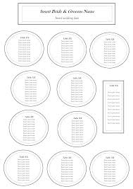 reception table seating chart template wedding table seating plan te