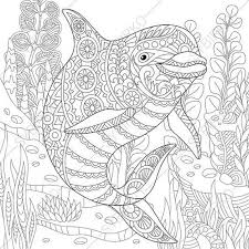 Clever Ocean Adult Coloring Pages For Adults Children Full Size To