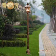 garden pole. High Pole Garden Light Post Vintage Outdoor Street Lamp 220V Spot Exterieur Led Jardin Aluminum Made