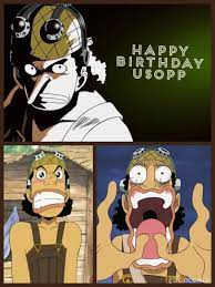Happy Birthday Usopp (04/01) | One piece manga, Usopp, One piece anime