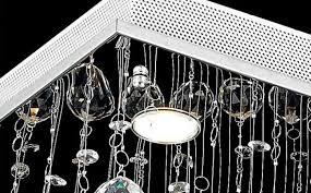 luxury crystal pyramid pendant lamp ceiling light lighting rain drop chandelier