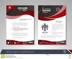 Brochures And Flyers Template Design Stock Vector