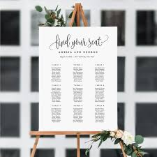 Calligraphy Wedding Seating Chart Seating Chart Lovely Calligraphy Lcc