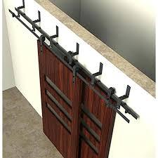 6 bypass rustic sliding barn wood closet door interior 6 bypass rustic sliding barn wood closet