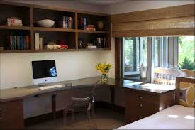 small home office desks. Immaculate Wall Mounted Open Shelves Over Computer Office Desk Added Valance Windows Small Home Treatment Decors Desks