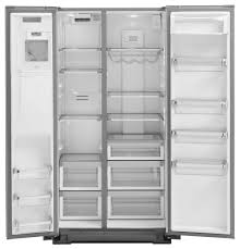 kitchenaid 22 7 cu ft counter depth side by side refrigerator with exterior