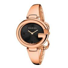 gucci 9200l. gucci guccissima ladies\u0027 rose gold pvd bangle watch - product number 2173816 9200l