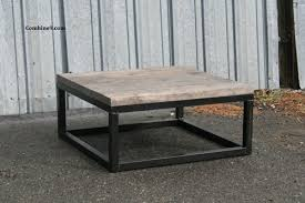 Reclaimed Wood Coffee Table Urban Modern Rustic Minimalist Custom