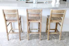 Grey Kitchen Floor Tiles Coastal Distressed Wooden Bar Stools With Ladder Backs On Grey