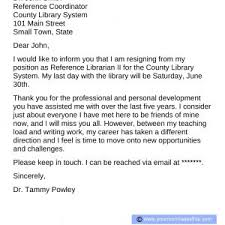 Letter Of Resignation From Teaching Valid Simple Resignation Letter