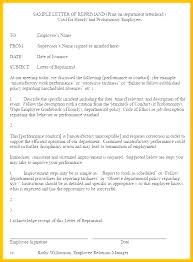 Employee Reprimand Template Employee Write Up Letter