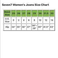 Seven7 Jeans Size Chart Booty Enhancing Legging Jeans B 2 Nwt