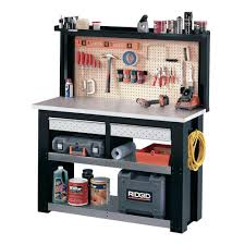 Workspace Workbench With Light  Workbench Home Depot  Lowes Work Benches Home Depot
