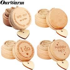 2019 <b>OurWarm Wedding Wood</b> Boite Ring Bearer Box Letter ...