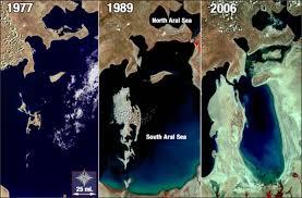 Аральское море и причины его гибели В 1930 е началось масштабное строительство оросительных каналов в Средней Азии которое особенно интенсифицировалось в начале 1960 х С 1960 х годов море