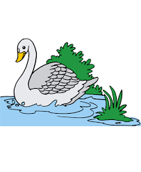 Small Picture Swan 1 Coloring Pages for Kids to Color and Print