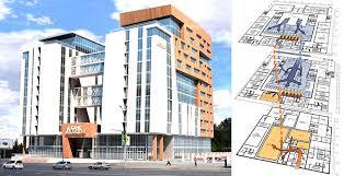 bim jpg Алексей Копылов Проект банка Акцент Слева внешний вид сооружения справа моделирование движения денежных потоков и посетителей в здании Дипломный