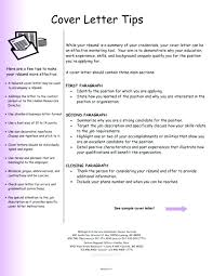 How To Write A Resume And Cover Letter Custom Cover Letter Tips For Writing Resumes And Cover Letters Sample