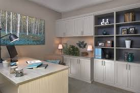 home office cabinets. Unique Home Concrete Finish Home Office Cabinets Inside