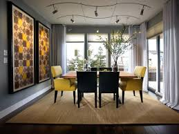 Yellow Leather Chair With Arms For Ultra Modern Dining Room Sets - Modern dining room curtains