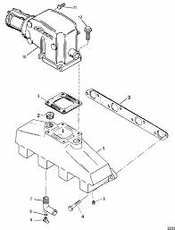 mercruiser 7 4l bravo gm 454 v 8 1988 1991 exhaust manifold engine section