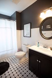 painting tile walls10 Gorgeous Black And White Bathrooms  HuffPost