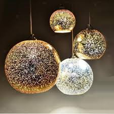 3d colored glass pendant lamp chandeliers lampshade ceiling light cover