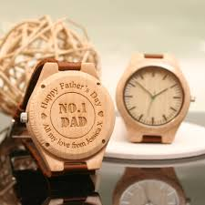 personalised wooden wrist watch for dad
