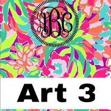 Lilly Pulitzer Monogrammed Binder Covers