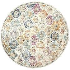 bohemian vintage cream multi distressed area rug round rugs bed furniture and rounding safavieh madison light