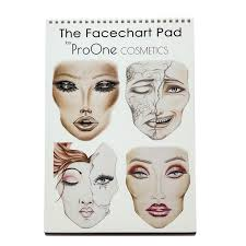 Chart Makeup Face Chart Pads 30 Pages 2 Eyes Open