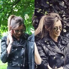 jacket black taylor morris burberry biker jacket sunglasses