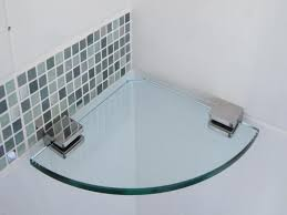 Bathroom Glass Corner Shelves Shower Fascinating Amazing Corner Glass Shelves Home Inspiration