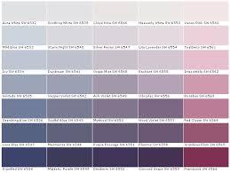 Violet Colour Chart Sherwin Williams Color Chart Color Options House Paints Colors