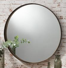 Diy Large Wall Mirror Greystoke Large Bronze Round Wall Mirror 33 Diameter Walls