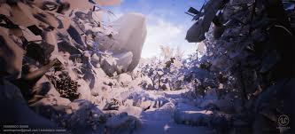 ArtStation - Forest Rock [UE4], Fernando Quinn | Forest, Game art, Art