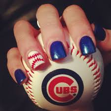 Nail Design Chicago Chicago Cubs Baseball Nails Going To The Game Today And