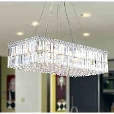 modern rectangular chandelier chic modern rectangular chandelier modern art style light chrome finish clear crystal