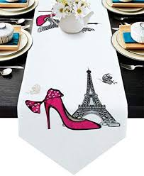 Valentine's Day High Heels with Eiffel Tower Table ... - Amazon.com
