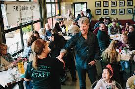 Jon Bon Jovi's Restaurants Allow People In Need To Eat For <b>Free</b>