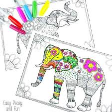 Elephants Coloring Pages Free Elephant Coloring Pages For Adults