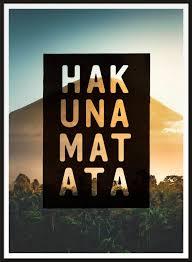 Hakuna Matata Lion King Quote Sunset Print Ink Drop