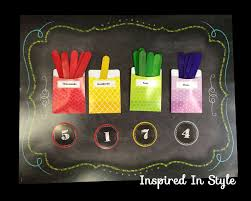 Hundreds Tens Ones Pocket Chart Create A Place Value Center Using The Chalk It Up Chart