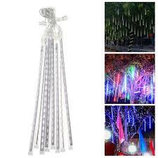 How To Plug In All Christmas Lights Meteor Shower Rain String Light Led Tube For Christmas Lights Wedding Multi Color 30cm Us Plug